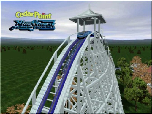 Blue Streak Cedar Point Logo Cedar Point Blue Streak by